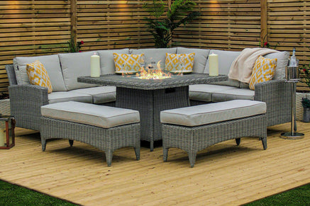 Gas Fire Pit Casual Dining Garden Furniture Sets