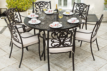 Cast Aluminium 6 Seater Garden Furniture Sets