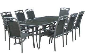 Metal 8 Seater Garden Furniture Sets