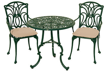 Cast Aluminium 2 Seater Garden Furniture Sets
