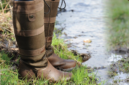 Leather Wellington Boots