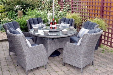 Rattan 6 Seater Garden Furniture Sets