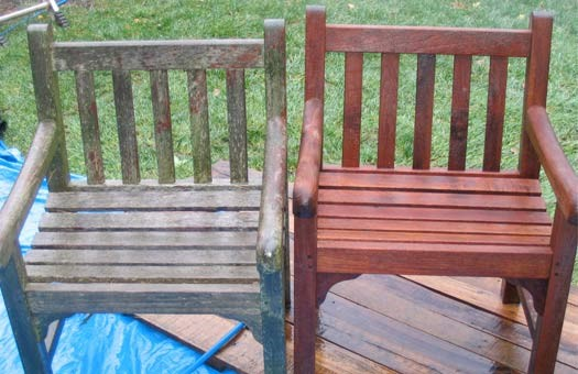 Restoring Wooden Garden Furniture