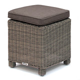 Kettler Palma Rattan Outdoor Casual Dining Sofa Set with Firepit Table