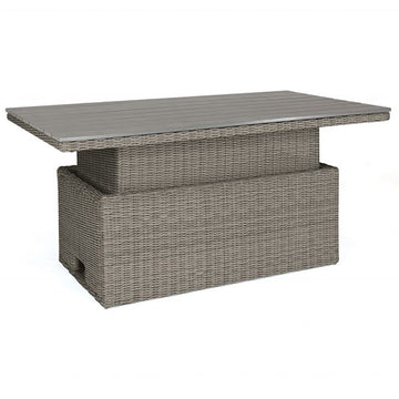 Kettler Palma Rattan Casual Dining S-Q Height Adjustable Slat Top Table