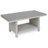 Kettler Palma White Wash Wicker Slat Top Coffee Table