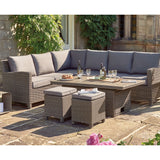 Kettler Palma Corner Right Hand Rattan Outdoor Sofa Set with Adjustable S-Q Table