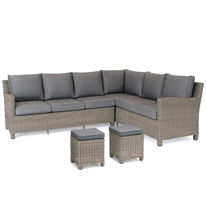 Kettler Palma Corner Left Hand Rattan Outdoor Sofa Set with Glass Table