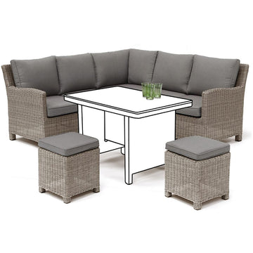 Kettler Palma Mini Corner Rattan Outdoor Sofa Set
