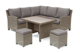 Kettler Palma Mini Corner Rattan Outdoor Sofa Set with Glass Table