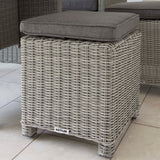 Kettler Palma Mini Corner White Wash Wicker Outdoor Sofa Set with Glass Top Table