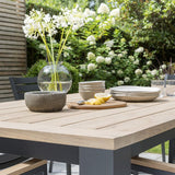Kettler Elba Teak Top Aluminium Rectangular Dining Table 2.2m x 1m