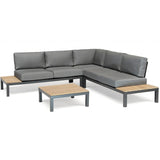 Kettler Elba Ex Display Low Corner Lounge Sofa Set with Coffee Table