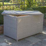 Kettler Palma White Wash Rattan Large Cushion Storage Box