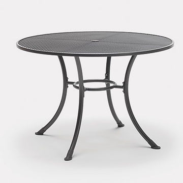 Kettler Round 110cm Mesh Top Table with Parasol Hole