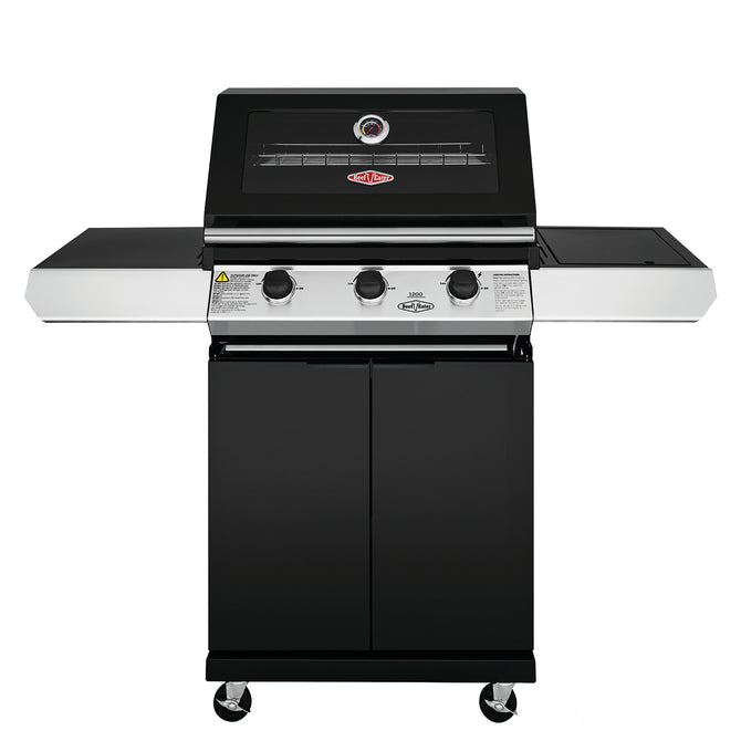 BeefEater 1200E Series 3 Burner Gas Barbecue with Cabinet Trolley and Side Burner