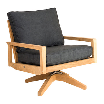 Alexander Rose Roble Swivel Lounge Chair with Cushions
