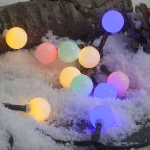 50, 100 Fit & Forget Battery Operated Multi Coloured LED Berry Lights