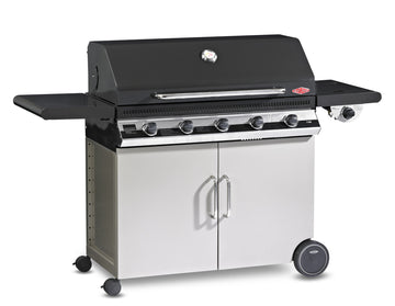 BeefEater Discovery 1100E Series 5 Burner Gas Barbecue with Cabinet Trolley and Side Burner