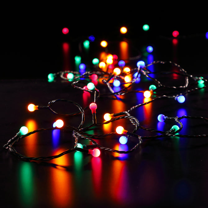 Noma 100 Opulent Multicoloured Berry Lights with Easy Timer