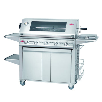 BeefEater Signature S3000S Plus 5 Burner Stainless Steel Gas Barbecue with Cabinet Trolley and Side Burner