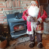 4ft (120cm) Traditional Standing Santa Father Christmas Figure with Sticks and Sack