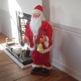 4ft (120cm) Traditional Musical Animated Standing Santa Father Christmas Figure