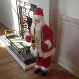 1m Traditional Musical Animated Santa Father Christmas Figure with Saxophone