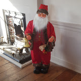 4ft (120cm) Traditional Red Musical Animated Standing Santa Father Christmas Figure