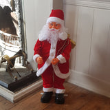 2.3ft (70cm) Traditional Musical Animated Standing Santa Father Christmas Figure