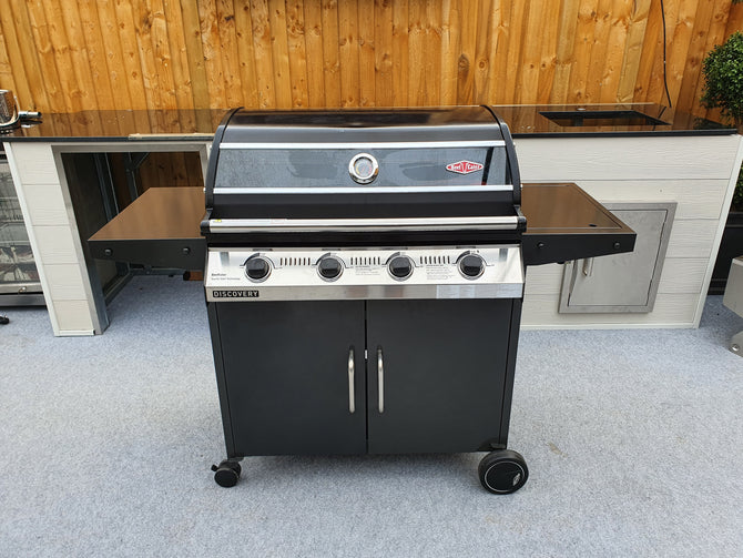 BeefEater Discovery 1000R Series Ex-Display 4 Burner Gas Barbecue with Cabinet Trolley and Side Burner