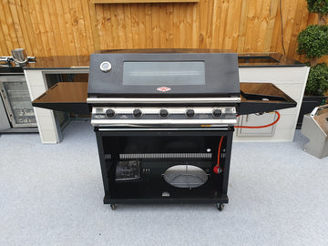 BeefEater 1000LX-E Series Ex-Display 5 Burner Gas Barbecue with Cabinet Trolley and Side Burner