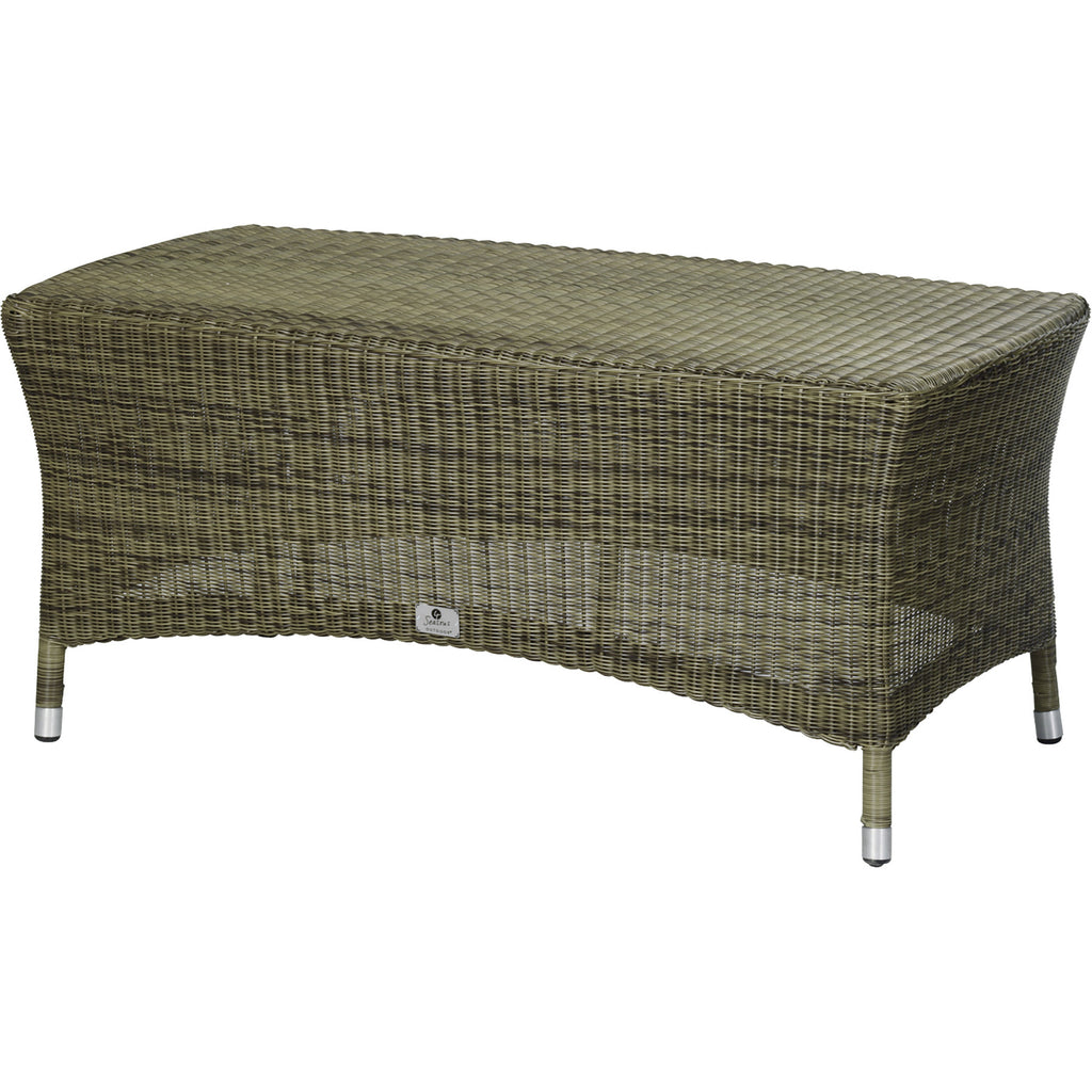 4 seasons sussex polyloom taupe wicker coffee table 110 x for Coffee table 60 x 60