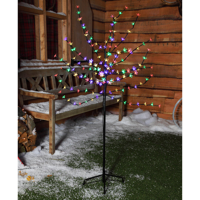 1.8m (6ft) 200 LED Cherry Blossom Tree by Noma - Multi-Coloured