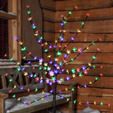 1.2m (4ft) 100 LED Cherry Blossom Tree by Noma - Multi-Coloured
