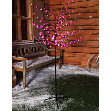 1.8m (6ft) 200 LED Cherry Blossom Tree by Noma - Pink