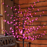 1.2m (4ft) 100 LED Cherry Blossom Tree by Noma - Pink