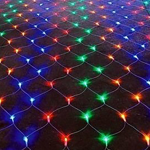160 Fit & Forget Battery Operated Multi Coloured Multi Function LED Net Lights