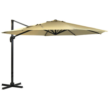 Harbo Taupe Roma 3.5m Round Cantilever Round Garden Parasol