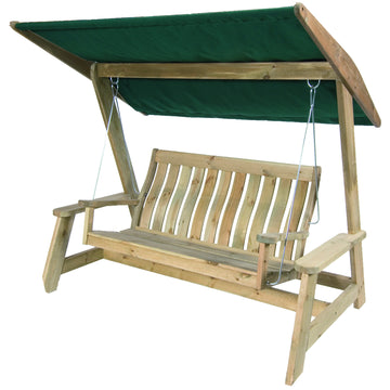 Alexander Rose Pine Farmers Swing Seat Green