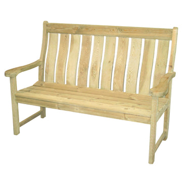 Alexander Rose Pine Farmers Wooden Bench 5ft (1.5m) **Special Price**