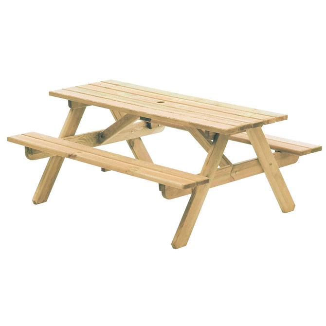Alexander Rose Pine Woburn Picnic Table 5ft (1.5m)