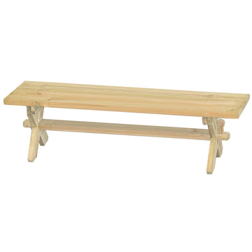 Alexander Rose Pine Farmers Backless Wooden Bench 6ft (1.8m)