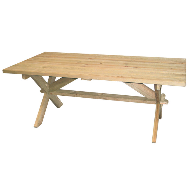Alexander Rose Pine Farmers Rectangular Table 1.9m x 1m