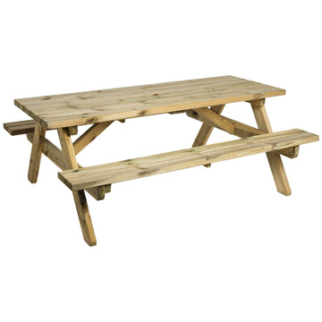 Alexander Rose Pine Heavy Duty Picnic Table 6ft (1.8m)