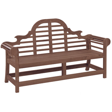 Alexander Rose Sherwood Lutyens Wooden Bench - 6ft (1.8m)