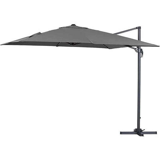 Bracken Outdoors Grey Milan 3m x 3m Square Cantilever Garden Parasol