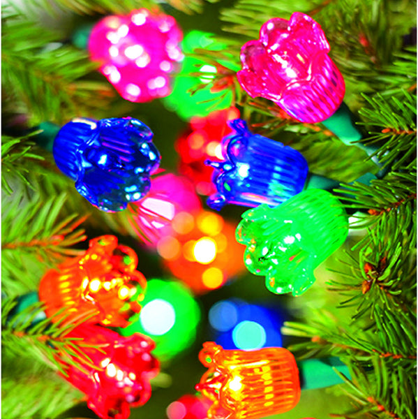 40 Canterbury Belles Mini Lights Multi Colour with Green Cable