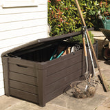 Keter Saxon Garden Storage Box 454ltr - Brown