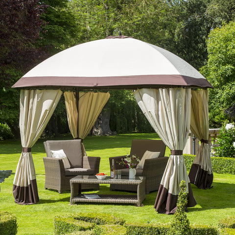 Bracken Outdoors Denver Square Gazebo - Taupe/Anthracite
